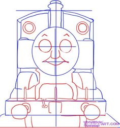how to draw thomas the tank engine step 3