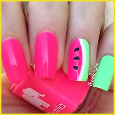 mmm wassermelone sie sehen so saftig aus ella mila: Island Love. # mmm wassermelone sie sehen so saftig aus ella mila: Island Love. The post mmm wassermelone sie sehen so saftig aus ella mila: Island Love. # appeared first on Summer Ideas. Toe Nails, Pink Nails, Yellow Nails, Green Nails, Neon Yellow, Watermelon Nails, Watermelon Nail Designs, Green Watermelon, Nails For Kids