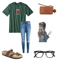"""Untitled #34"" by rowefaith on Polyvore featuring Patagonia, Tory Burch and Birkenstock"