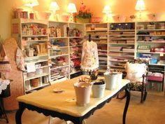 Craft Room of Beehive Cottage...sweet!