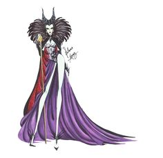 Maleficent in Haute Couture by Guillermo Meraz