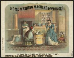 NEW YORK 1869 ENGLISH Interesting and Forgotten - Life and Curiosities of Past  - History of Washing and First Washing Machines RUSSIAN Интересное и забытое - быт и курьезы прошлых эпох. - История стирки и первые стиральные машинки