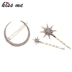 New Fashion Barrettes Affordable Zinc Alloy Rhinestone Star Moon Hair Jewelry Accessores Oh just take a look at this! All About Fashion, Passion For Fashion, New Fashion, Trendy Fashion, Cute Jewelry, Hair Jewelry, Jewelry Ideas, Vintage Jewelry, Unique Jewelry