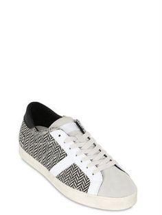 d.a.t.e. - 남성 - 스니커즈 - herringbone print ponyskin city sneakers