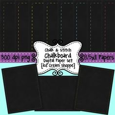 FREE Chalkboard Papers