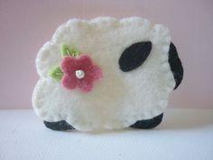 Felt  Brooch Primitive Ewe Sheep Lamb Felted by pennysbykristie, $14.00
