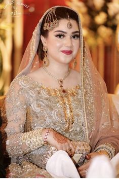 Get a hold of budget wedding tips and hints. Asian Wedding Dress, Pakistani Wedding Outfits, Wedding Dresses For Girls, Party Wear Dresses, Bridal Outfits, Pakistani Dresses, Nikkah Dress, Indian Outfits, Pakistani Bridal Makeup