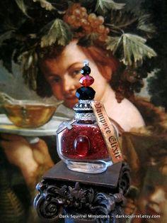 Vampyre Elixir Potion Bottle ooak dollhouse miniature in one inch scale