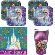 Disney Frozen Party Supplies Pack Including Plates, Cups and Napkins for 16 Guests Disney Frozen Party, Disney Planes Party, Disney Frozen Birthday, Frozen Theme Party, Frozen Movie, Elsa Frozen, Cute Frozen, Frozen Merchandise, Party Items