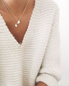 Sweet + simple - a white sweater is always a good idea!