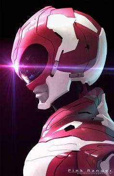 Pink Power Rangers, Mighty Morphin Power Rangers, Power Rangers Tattoo, Cute Disney Characters, Power Rengers, Marvel, 2d Art, Mask Design, Fantasy Art