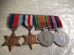 WW2 Medal Group inc 1939045 Star, Victory & Defence Medals
