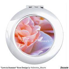"""Love in Summer"" Rose Design Vanity Mirrors"