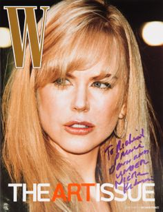 Looking Back at the W Magazine Art Issue - Nicole Kidman