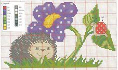 schema riccio con fiore