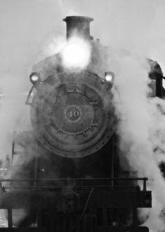 Train photography, railroad print, train decor, fine art print, steam train express 8x10. $30.00, via Etsy.
