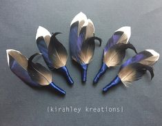 Duck Hunting Wedding, Feather Boutonniere, Feather Bouquet, Groom Boutonniere, Purple And Black, Black And Brown, Navy Blue, Rustic Groom, Bridal Packages