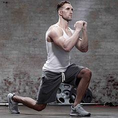 8 moves: pushup, overhead press, pullup, row, squat, kettlebell swing, deadlift, walking lunge