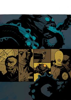 MIke Mignola BPRD: War on Frogs | Color by Dave Stewart