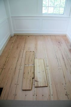 A Country Farmhouse- how to seal raw pine floors so they look natural and age naturally- products to use.