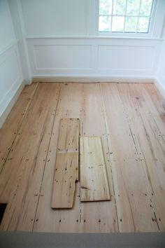 Wood floors on pinterest pine floors floors and barn for Raw hardwood flooring