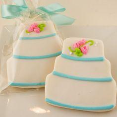 Wedding Cake Cookies  12 Decorated Sugar Cookie by TSCookies