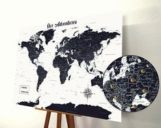 Map of the world | Etsy IE
