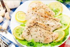 Slow Cooker Lemon Garlic Chicken - T A S T Y! Oh YES! www.GetCrocked.com