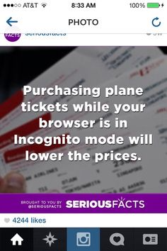 Buying plane tickets
