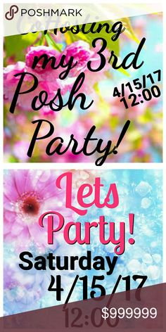 CoHosting my 3rd Posh Party Saturday 4/15/17 12:00 Yay! CoHosting my 3rd Posh Party Saturday 4/15/17 12:00 So very excited!! Please Share!   Don't tag me yet...I will keep you posted on the theme! All Saints Other