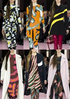 CHRISTIAN DIOR I Organic Shapes – Bold Abstracts – Futuristic Camo – Amorphous Imagery – Abstract Animal Prints – Unusual Colour Combos I PARIS Fashion Week