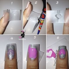 Heart Tape Nails. This is such a easy and fun mani! Must try.
