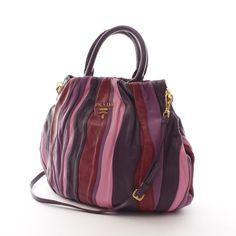 Extravagante Handtasche von Prada in Lila