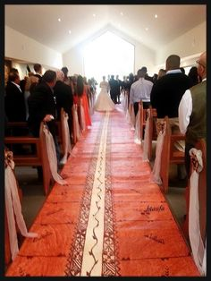 "Tongan Red Carpet! Here we have laid down our finest tapa knows as ""Lau Nima"" as an aisle runner for the wedding."