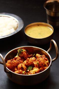 achari gobhi recipe, tasty side dish for rice, roti, chapati. achari gobhi is a tasty dish made with cauliflower. Indian Food Recipes, Beef Recipes, Whole Food Recipes, Vegetarian Recipes, Vegetarian Curry, Curry Recipes, Easy Recipes, Healthy Side Dishes, Tasty Dishes