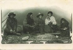 This is a vintage postcard of a Micmac Indian Camp. I believe the postmark reads January Alternate spellings of Micmac include Mi'kmaq and Migmaw. Related Posts Index: First Peoples Genealogy and History Native American Pictures, Native American Tribes, Native American History, Native Americans, Pima Indians, Canada, Interesting History, My Heritage, Native Art