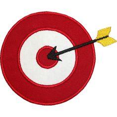 Target Arrow Applique by HappyApplique.com