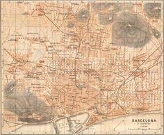 Plano del Barcelona del 1901, se puede comprobar los grandes cambios sufridos durante el Siglo XX
