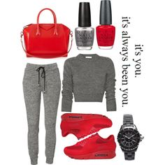 Grey type of day by alyciagonsalves on Polyvore featuring polyvore, fashion, style, Givenchy, Chanel, OPI, NIKE and Love Quotes Scarves
