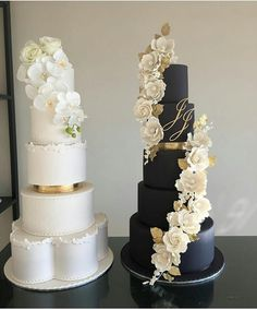 Never under no scenarios put your wedding event cake near the dance floor since the boogie bopper may trigger a lotta heartache. A steady table is a should for the cutting of the cake. Blush Wedding Cakes, Big Wedding Cakes, Luxury Wedding Cake, Elegant Wedding Cakes, Beautiful Wedding Cakes, Wedding Cake Designs, Beautiful Cakes, Cake Simple, Black And White Wedding Cake