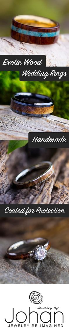 Browse our 100+ wood types for your natural wood ring! Wood rings are not only the epitome of sustainable jewelry, but also a creative way to enhance your style and lift your spirits.