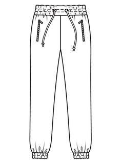 Брюки джоггеры - выкройка № 106 A из журнала 4/2017 Burda – выкройки брюк на Burdastyle.ru
