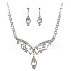 Jewelry - $19.99 - Elegant Alloy With Rhinestone Ladies' Jewelry Sets (011027601) http://jjshouse.com/Elegant-Alloy-With-Rhinestone-Ladies-Jewelry-Sets-011027601-g27601