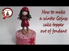 Gorjuss Cake Topper out of Fondant Fondant Bow, Fondant Cake Toppers, Fondant Flowers, Fondant Cakes, Fondant Figures Tutorial, Cake Topper Tutorial, Holly Hobbie, Easy Minecraft Cake, Modeling Chocolate