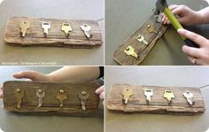 Image sur le bricolage dans uploads par Lillian sur We - Beton Creatif Diy And Crafts, Arts And Crafts, Jewelry Organizer Wall, Woodworking Bed, Home And Deco, Recycled Art, Dream Decor, Diy Art, Decoupage