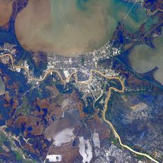 """""""#NewOrleans"""" #AstroButch Photo Credit Barry Wilmore: 127E3363 #nasa  #ISS"""