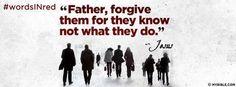 Luke 23:34 NKJV - Father Forgive Them. - Facebook Cover Photo