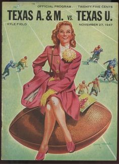 1947 Game Program between Texas A&M vs University of Texas at Kyle Field in College Station, TX on 11/27/47