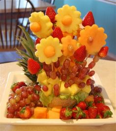 DIY fruit arrangement instructions
