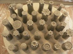 StudioÉLAN: Stamps great example of clay stamps pottery ceramics
